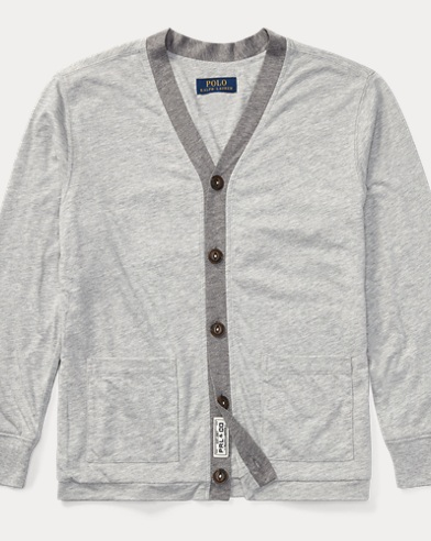 Cotton-Blend-Jersey Cardigan