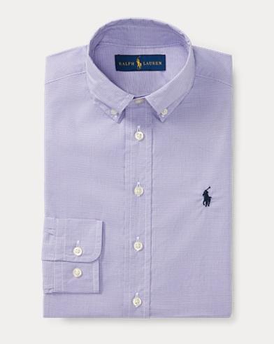 Houndstooth Cotton Dress Shirt
