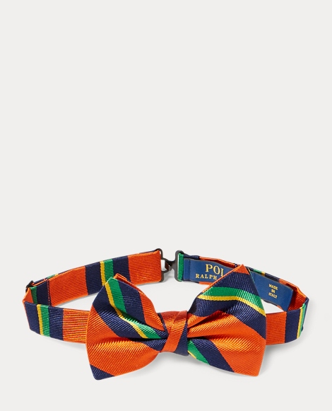 Striped Silk Repp Bow Tie