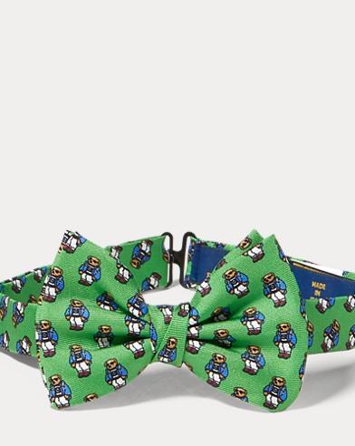Polo Bear Silk Bow Tie