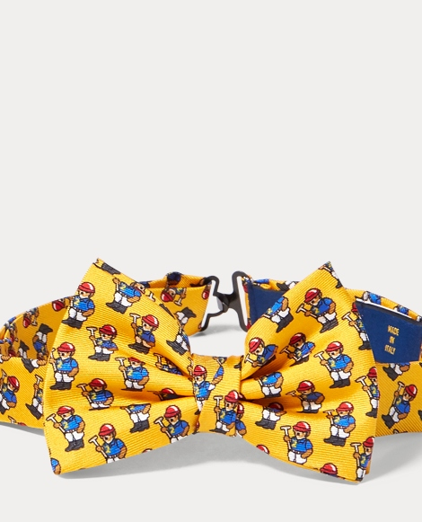 Polo Bear Silk Bow Tie