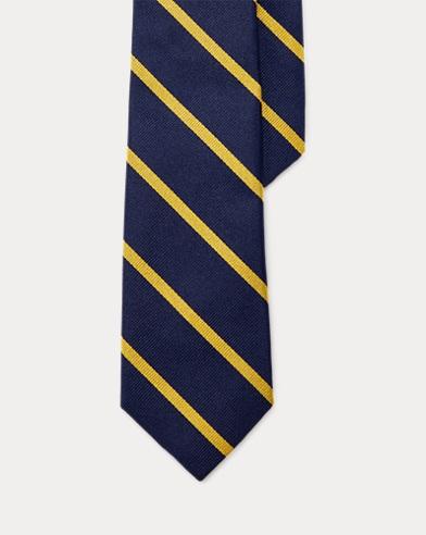 Striped Silk Repp Tie