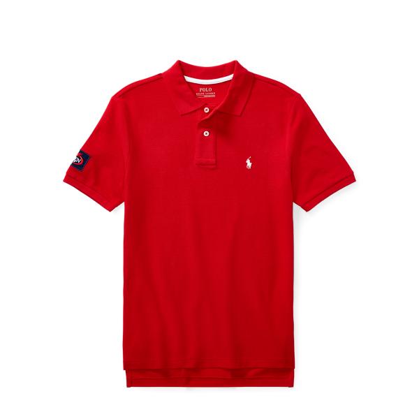 Ralph Lauren Us Open Cotton Mesh Polo Shirt Rl2000 Red M