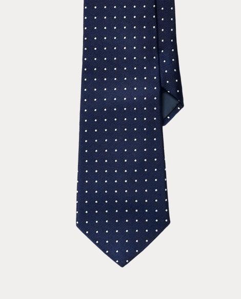 Polka-Dot Silk Repp Tie