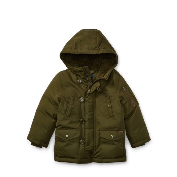 Ralph Lauren Hooded Down Jacket Fall Olive 2T