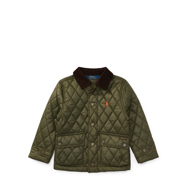 Ralph Lauren Quilted Barn Jacket Fall Olive 3T