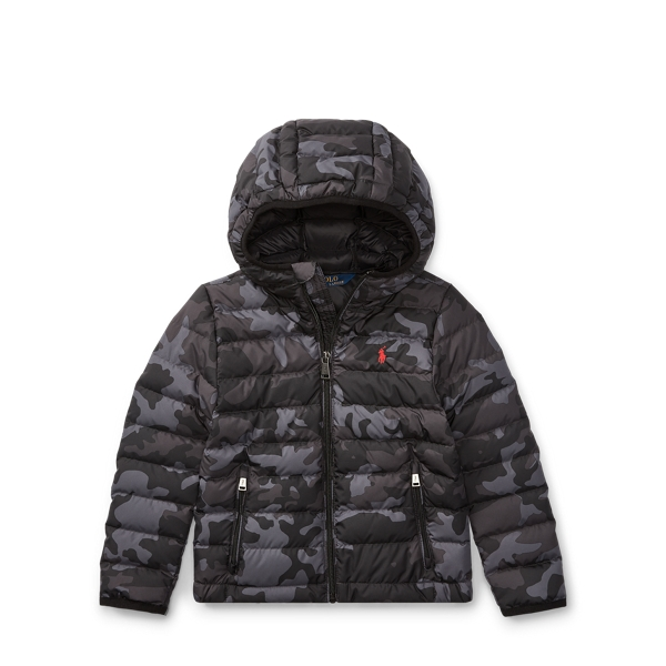 Ralph Lauren Packable Camo Down Jacket Black Camo 2T