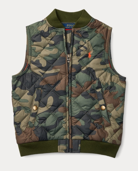 Quilted Camo Vest