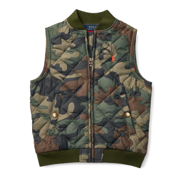 Ralph Lauren Quilted Camo Vest Green Camo 2T
