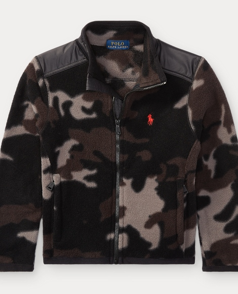 Camo Fleece Hybrid Jacket
