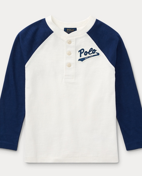 Cotton Jersey Baseball Henley