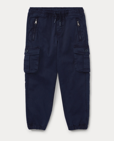 Chino-Paneled Terry Jogger
