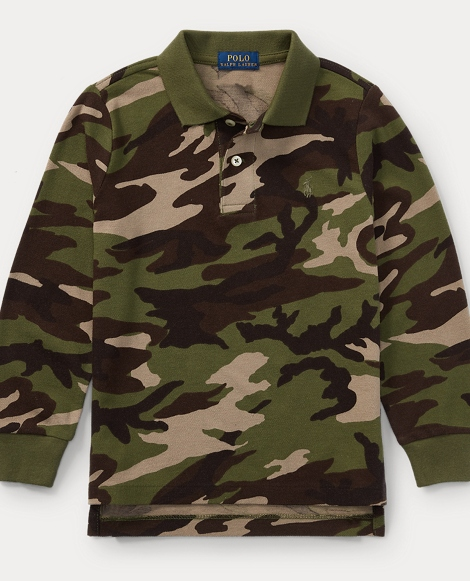 Camo Cotton Mesh Polo Shirt