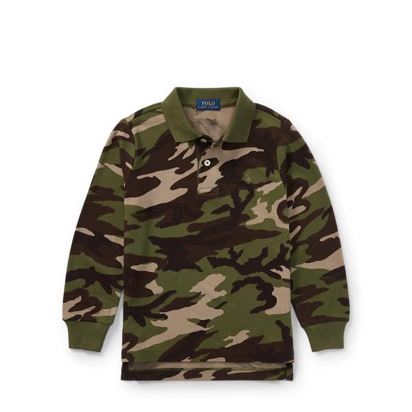 Ralph Lauren Camo Cotton Mesh Polo Shirt Camo 2T