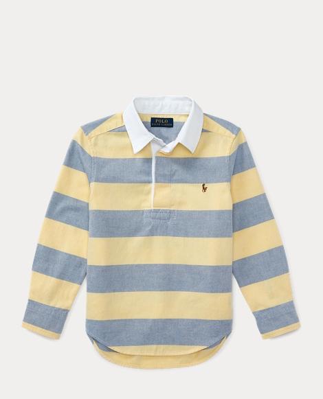 Striped Cotton Oxford Popover