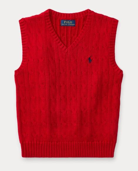 Cable-Knit Cotton Sweater Vest