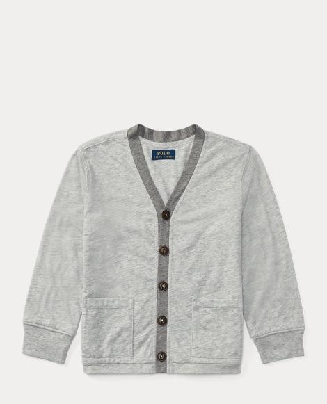 Cotton-Blend-Jersey Cardigan