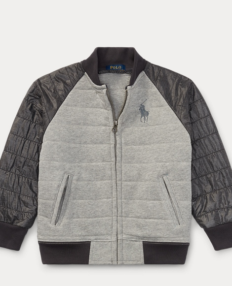 Quilted Cotton Baseball Jacket