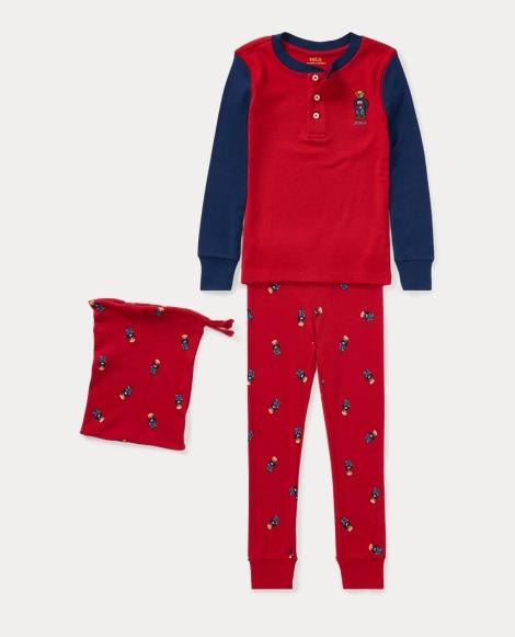 Polo Bear Cotton Pajama Set