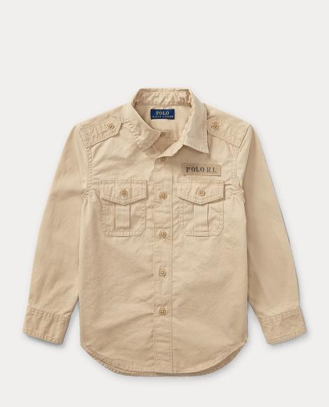 Cotton Poplin Utility Shirt