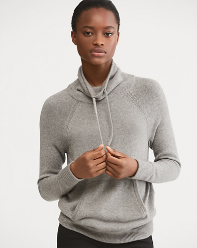 Drawstring Funnelneck Sweater