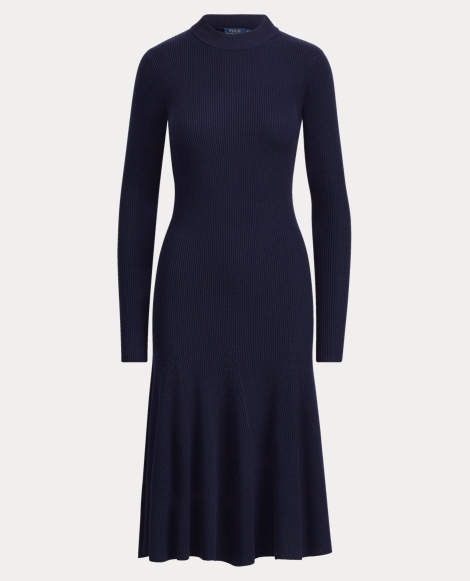 Ribbed Merino Wool Dress