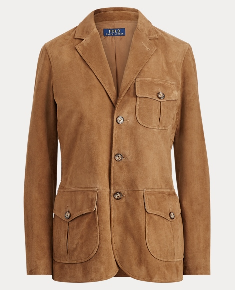 Suede 3-Button Blazer