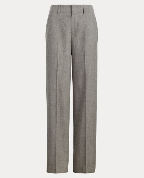 Wool Flannel High-Rise Pant
