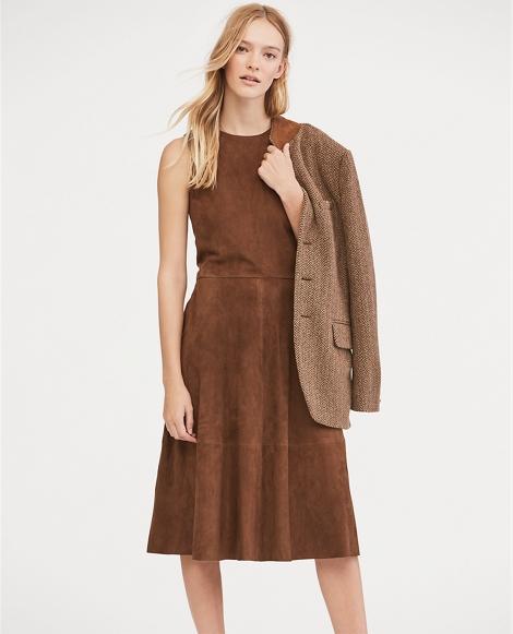 Suede Sleeveless Dress