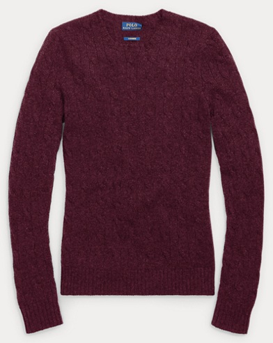 Slim Cable Cashmere Sweater