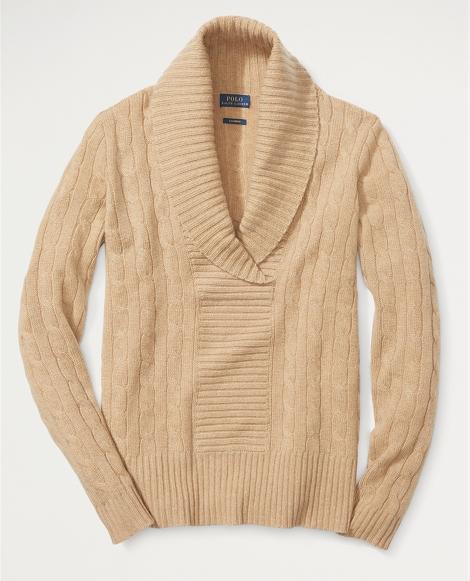 Shawl-Collar Cashmere Sweater