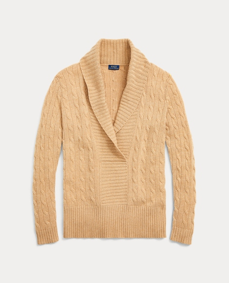 Shawl-Collar Cashmere Sweater