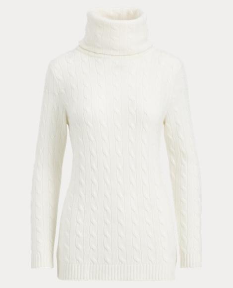 Cable-Knit Cashmere Turtleneck