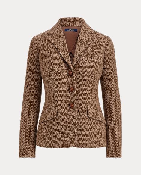 Herringbone Wool Blazer