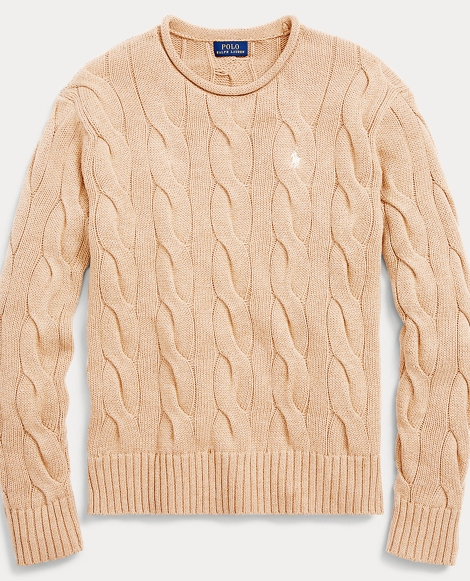 Boxy Cable Cotton Sweater