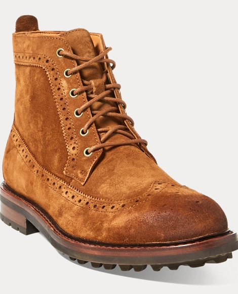 Nickson Suede Wingtip Boot