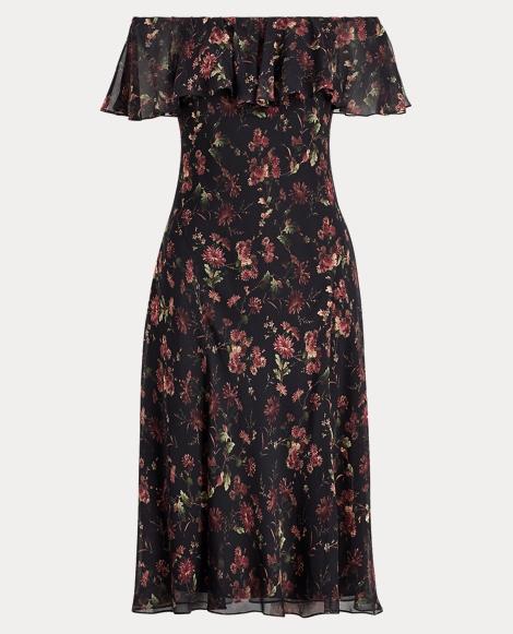 Silk Off-the-Shoulder Dress