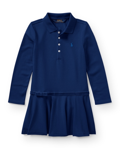 Stretch Cotton Polo Dress