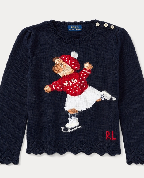 Skate Polo Bear Cotton Sweater