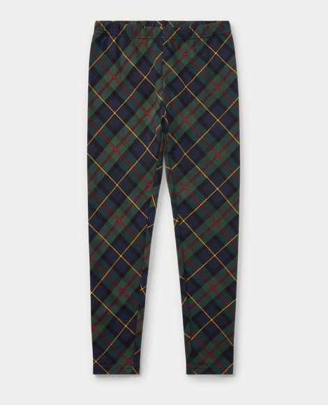 Plaid Stretch Jersey Legging