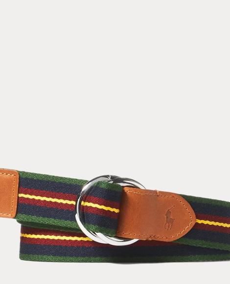 Striped Webbed O-Ring Belt