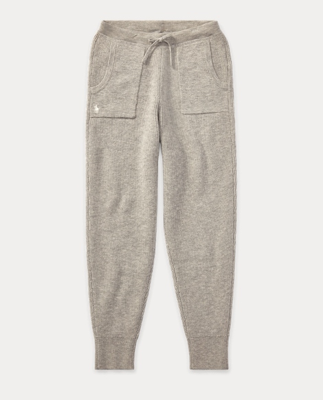 Wool-Cotton Drawstring Jogger