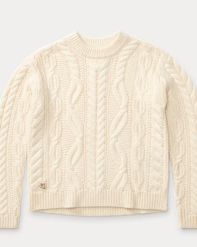 Aran Wool-Blend Sweater