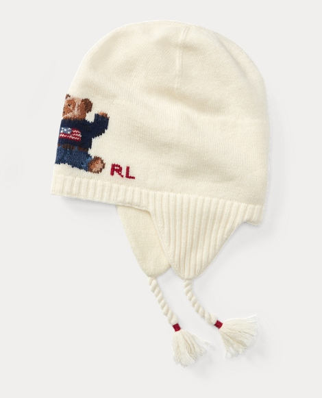 Polo Bear Merino Earflap Hat