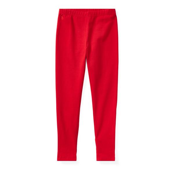 Ralph Lauren Bow-Back Jersey Legging Park Ave Red M
