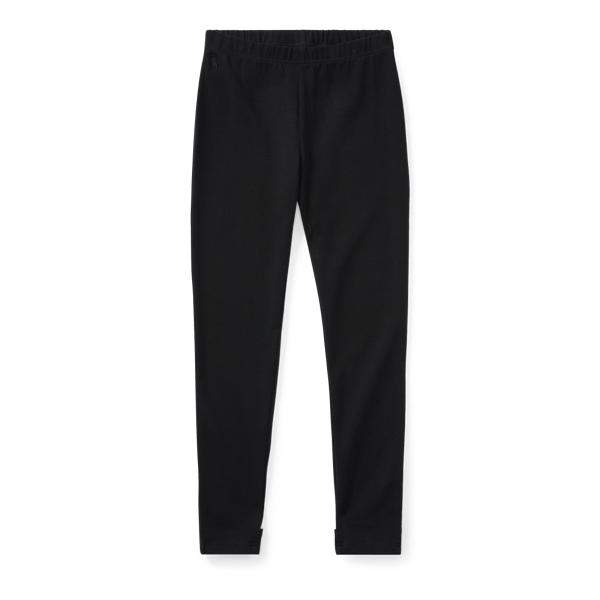Ralph Lauren Bow-Back Jersey Legging Polo Black S
