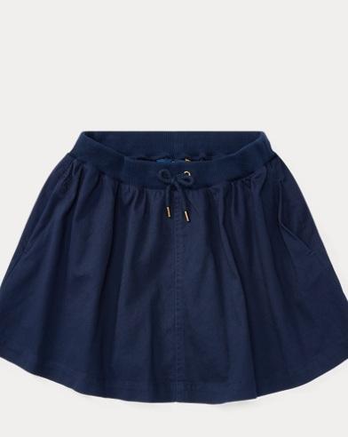 Chino Drawstring Skirt