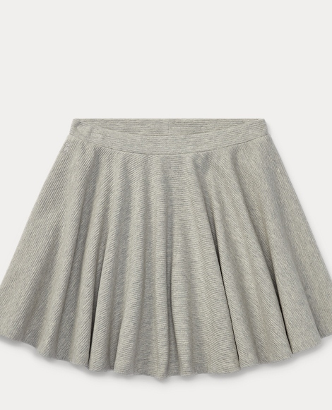 Ribbed Cotton Circle Skirt