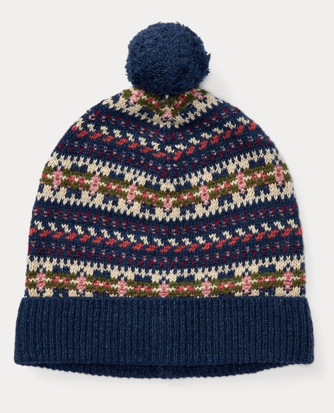 Fair Isle Wool-Blend Hat