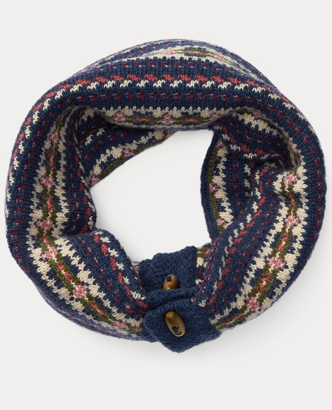 Fair Isle Wool-Blend Snood